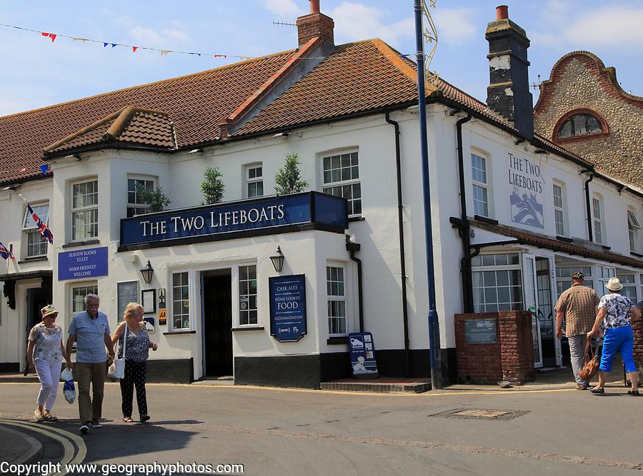 The Two Lifeboats pub, Sheringham, Norfolk, England, UK