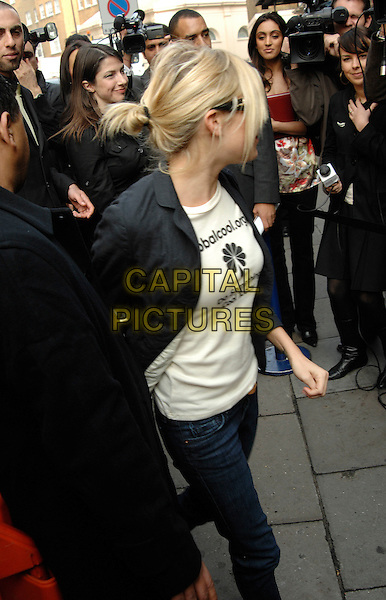 SIENNA MILLER .The (IIFA) International Indian Film Academy Awards launch party held at Madame Tussauds, London, England..March 28th, 2007.half length black jacket jeans denim .CAP/PL.©Phil Loftus/Capital Pictures