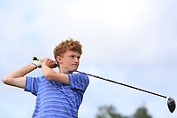 Eoin Prendergast (Claremorris) on the 14th tee during the Final round in the Connacht U16 Boys Open 2018 at the Gort Golf Club, Gort, Galway, Ireland on Wednesday 8th August 2018.<br /> Picture: Thos Caffrey / Golffile