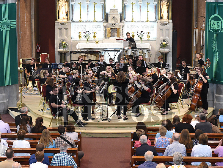 The Contemporary Youth Orchestra from Cleveland Ohio USA who performed in the Augustinian church along with the Drogheda Orchestral Collective. Photo:Colin Bell/pressphotos.ie