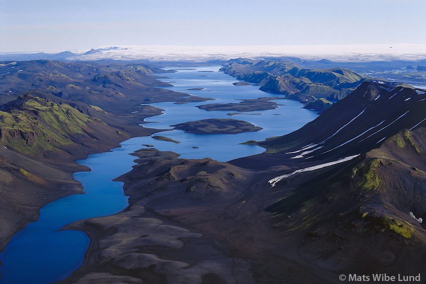 Langisjór til norðurs.Lake Langisjor viewing north