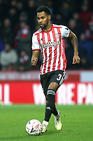 Rico Henry of Brentford in action during Brentford vs Oxford United, Emirates FA Cup Football at Griffin Park on 5th January 2019