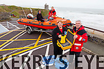 Members of Ballybunion Sea and Cliff Rescue are calling on the public to help them raise funds to keep the service going. Pictured were Frank O'Connor and Isabella O'Mahony with Emmet Lynch, Jason O'Doherty.