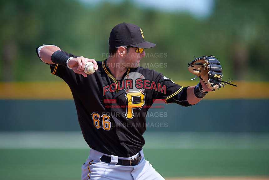 Pittsburgh Pirates Tyler Filliben (66) during a minor league Spring Training intrasquad game on April 3, 2016 at Pirate City in Bradenton, Florida.  (Mike Janes/Four Seam Images)