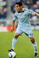 Sporting KC midfielder Omar Bravo in action... Sporting Kansas City defeated Real Salt Lake 2-0 at LIVESTRONG Sporting Park, Kansas City, Kansas.