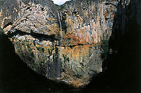 Brazil's third tallest waterfall, the Cachoeira do Tabuleiro,  a sliver of water that plunges some 273 m from a cerrado-covered escarpment into a crystal-clear pool, at Serra do Cipo National Park in Minas Gerais State, Southeast Brazil. The Cipo Range is one of the world most exuberant natural sets. It is classed as an integral protection unit according to Brazil'´s National System of Conservation Units (SNUC). This category allows for substantial public use, although this activity must be compatible with the overall conservation objectives of the park.
