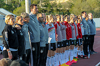 20200307  Lagos , Portugal : German substitues pictured during the female football game between the national teams of Germany and Norway on the second matchday of the Algarve Cup 2020 , a prestigious friendly womensoccer tournament in Portugal , on saturday 7 th March 2020 in Lagos , Portugal . PHOTO SPORTPIX.BE | STIJN AUDOOREN