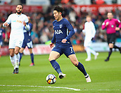 17th March 2018, Liberty Stadium, Swansea, Wales; FA Cup football, quarter-final, Swansea City versus Tottenham Hotspur; Son Heung-Min of Tottenham Hotspur makes an attack early in the game