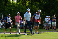 Matt Fitzpatrick (ENG) and Justin Rose (GBR) head down 6 during round 4 of the 2019 Charles Schwab Challenge, Colonial Country Club, Ft. Worth, Texas,  USA. 5/26/2019.<br /> Picture: Golffile | Ken Murray<br /> <br /> All photo usage must carry mandatory copyright credit (© Golffile | Ken Murray)