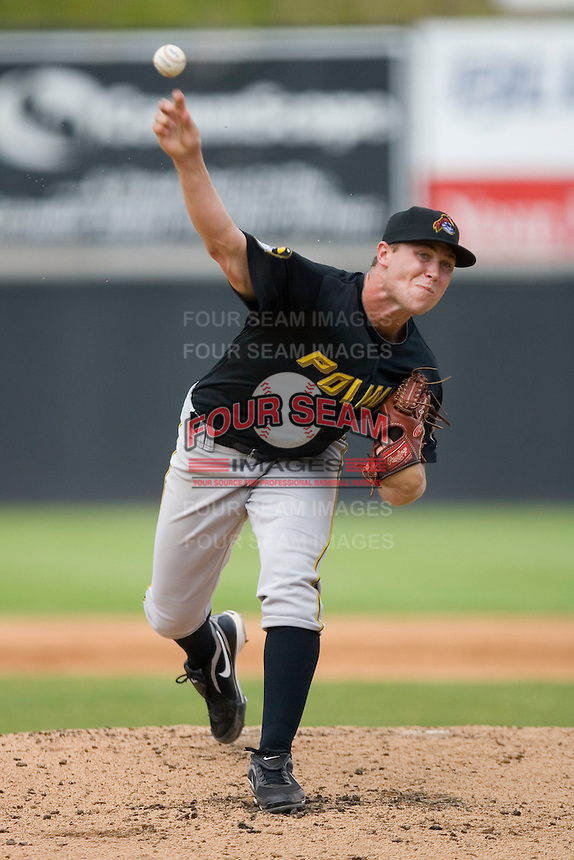 Starting pitcher Hunter Strickland #34 of the West Virginia Power in action versus the Hickory Crawdads at L.P. Frans Stadium August 9, 2009 in Hickory, North Carolina. (Photo by Brian Westerholt / Four Seam Images)