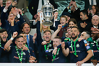 3rd November 2019; Aviva Stadium, Dublin, Leinster, Ireland; FAI Cup Final Football, Dundalk Football Club versus Shamrock Rovers; THe Shamrock Rovers team celebrate winning - Editorial Use