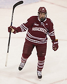 Niko Hildenbrand (UMass - 19) - The Boston University Terriers defeated the University of Massachusetts Minutemen 3-1 on Friday, February 3, 2017, at Agganis Arena in Boston, Massachusetts.The Boston University Terriers defeated the visiting University of Massachusetts Amherst Minutemen 3-1 on Friday, February 3, 2017, at Agganis Arena in Boston, MA.