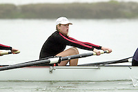 REDWOOD SHORES, CA - JANUARY 2002:  Nicole Hildebrandt of the Stanford Cardinal during practice in January 2002 in Redwood Shores, California.