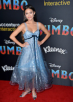 """LOS ANGELES, CA. March 11, 2019: Lily Chee at the world premiere of """"Dumbo"""" at the El Capitan Theatre.<br /> Picture: Paul Smith/Featureflash"""