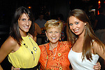 Ashley Thomas, Mary Margaret McGowan and Krysten Sitterding (cq) at the Astros Wives party at Mo's..A Place for Steaks Sunday evening June 07,2009.(Dave Rossman/For the Chronicle)