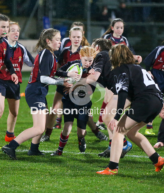 Friday 22nd November 2019 | Ulster Rugby vs Clermont Auvergne<br /> <br /> Halftime mini-rugby during the Heineken Champions Cup Pool 3 Round 2 match between Ulster Rugby  and Clermont Auvergne at Kingspan Stadium, Ravenhill Park, Belfast, Northern Ireland. Photo by John Dickson/DICKSONDIGITAL