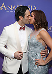 Ramin Karimloo and wife attend Broadway Opening Night After Party for 'Anastasia' at the Mariott Marquis Hotel on April 24, 2017 in New York City.