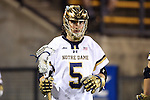 29 April 2016: Notre Dame's John Travisano, Jr.. The University of Notre Dame Fighting Irish played the Duke University Blue Devils at Fifth Third Bank Stadium in Kennesaw, Georgia in a 2016 Atlantic Coast Conference Men's Lacrosse Tournament semifinal match. Duke won the game 10-9 in overtime.