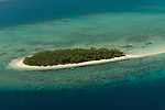 Aerial - small Katawaqa Island which is a turtle sanctuary