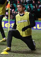 Emilio Izaguirre in the Celtic v St Mirren Clydesdale Bank Scottish Premier League match played at Celtic Park, Glasgow on 15.12.12.