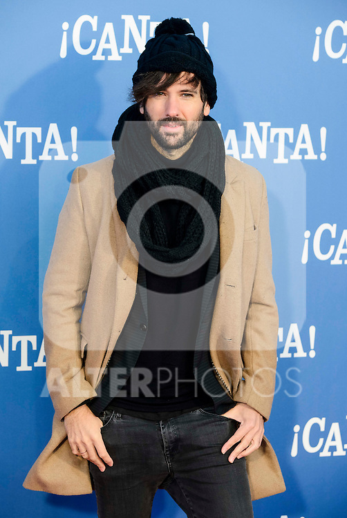 "David Otero attends to the premiere of the film ""¡Canta!"" at Cines Capitol in Madrid, Spain. December 18, 2016. (ALTERPHOTOS/BorjaB.Hojas)"