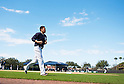 Masahiro Tanaka (Yankees),<br /> FEBRUARY 15, 2014 - MLB : Masahiro Tanaka of the New York Yankees rus during the first day of the team's spring training baseball camp at George M. Steinbrenner Field in Tampa, Florida, United States.<br /> (Photo by Thomas Anderson/AFLO) (JAPANESE NEWSPAPER OUT)