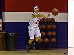 Barclay and Arlington Baptist women in action during the NCAA Basketball game at Arlington Baptist College in Arlington, Texas.