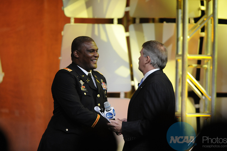 15 JAN 2010: Lt. Col. Gregory D. Gadson during the Honors Celebration at the 2010 NCAA Convention held at the Marriott Marquis and the Hyatt Regency in Atlanta, GA. Brett Wilhelm/NCAA Photos