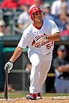 28 February 2007: St. Louis Cardinals left fielder John Rodriguez at bat during a pre-season, Grapefruit League game against the Florida Marlins on Opening Day for Spring Training at Roger Dean Stadium in Jupiter, Florida. The Cardinals and Marlins share Roger Dean Stadium and the training facilities which opened in 1998 as a co-development between the Cardinals and the Montreal Expos.<br /> <br /> Mandatory Photo Credit: Ed Wolfstein Photo