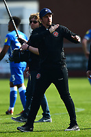 Fleetwood Town manager Joey Barton acknowledges the fans at the end of the match<br /> <br /> Photographer Richard Martin-Roberts/CameraSport<br /> <br /> The EFL Sky Bet League One - Fleetwood Town v Peterborough United - Friday 19th April 2019 - Highbury Stadium - Fleetwood<br /> <br /> World Copyright © 2019 CameraSport. All rights reserved. 43 Linden Ave. Countesthorpe. Leicester. England. LE8 5PG - Tel: +44 (0) 116 277 4147 - admin@camerasport.com - www.camerasport.com