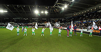 Children guard of honours before the Barclays Premier League match between Swansea City and Watford at the Liberty Stadium, Swansea on January 18 2016