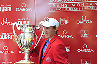 Matthew Fitzpatrick (ENG) wins the 2018 Omega European Masters, held at the Golf Club Crans-Sur-Sierre, Crans Montana, Switzerland. 9th September 2018.<br /> Picture: Eoin Clarke | Golffile<br /> <br /> <br /> All photos usage must carry mandatory copyright credit (&copy; Golffile | Eoin Clarke)