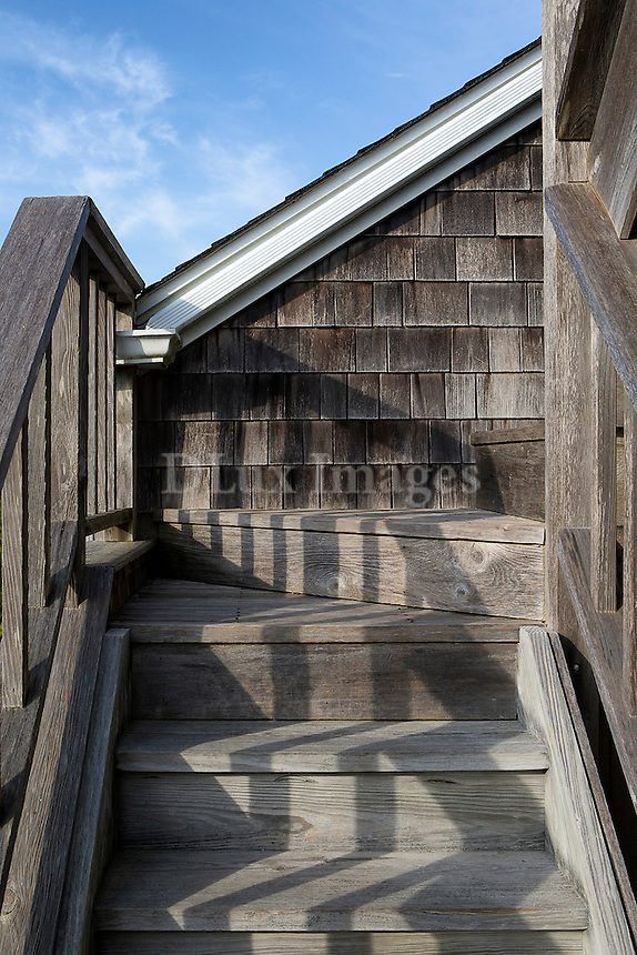 Wooden exterior step stairs