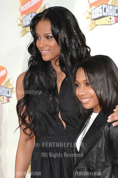 Ciara (left) & Tiffany Evans at Nickelodeon's 20th Anniversary Kids' Choice Awards at UCLA's Pauley Pavilion in Los Angeles..March 31, 2007  Los Angeles, CA.Picture: Paul Smith / Featureflash