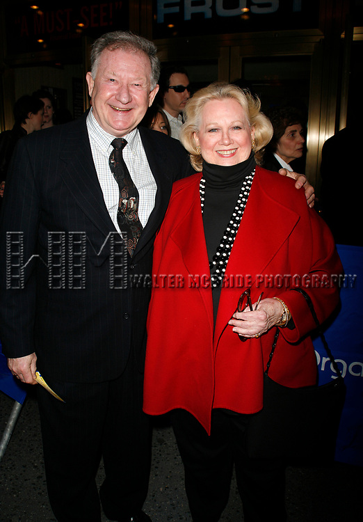 Harvey Evans &amp; Barbara Cook arriving for the Opening Night performance of FROST NIXON at the Bernard B. Jacobs Theatre in New York City.<br />April 22, 2007