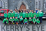 Castleisland AFC schoolboys players who went to Ireland taking on Iceland in the Aviva Stadium last Tuesday