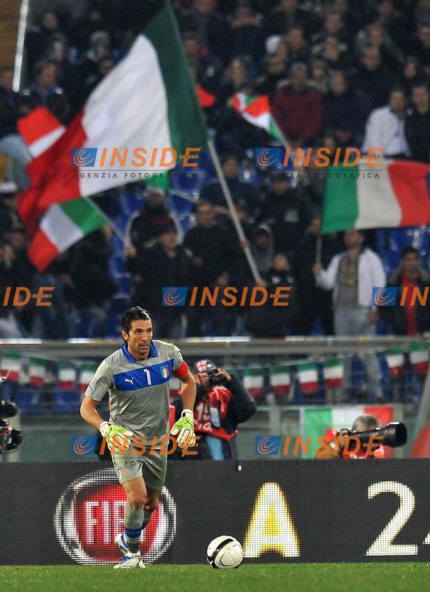 "Gianluigi BUFFON (Italia).Roma 15/11/2011 Stadio ""Olimpico"".Gara amichevole 2011/2012.Football Calcio Italia Vs Uruguay.Foto Insidefoto Alessandro Sabattini."
