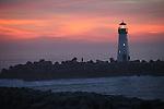 Walton Light at sunset in Santa Cruz