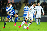 Geoff Cameron of Queens Park Rangers battles with Conor Gallagher of Swansea City during the Sky Bet Championship match between Swansea City and Queens Park Ranger at the Liberty Stadium in Swansea, Wales, UK. Tuesday 11 February 2020