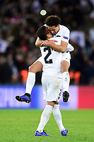 PSG players celebrate at the end of the match<br /> SILVA Thiago (PSG) / MARQUINHOS (PSG) <br /> Parigi 28-11-2018 <br /> Paris Saint Germain - Liverpool Champions League 2018/2019<br /> Foto JB Autissier / Panoramic / Insidefoto <br /> ITALY ONLY