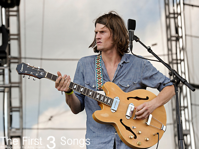 Christian Bland of The Black Angels performs during day 2 of the 2011 Kanrocksas Music Festival at Kansas Speedway in Kansas City, Kansas on August 6, 2011.