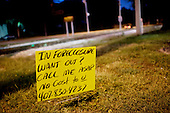November 6, 2010<br /> Orlando, Florida<br /> <br /> A sign on a main street in Orlando related to the huge number of homes foreclosed homes in the area.
