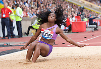 Christabel Nettey of Canada competing in the long jump during the Muller Grand Prix  IAAF Diamond League meeting at Alexander Stadium, Perry Barr, Birmingham.<br /> Picture by Alan Stanford +44 7915 056117<br /> 18/08/2018