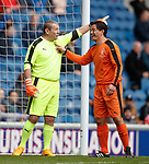 24.3.2018: Rangers legends match:<br /> Andy Goram and Michael Mols
