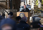 Nevada Lt. Gov. Mark Hutchison speaks at the Pearl Harbor 75th Commemoration at the U.S.S. Nevada memorial at the Capitol in Carson City, Nev. on Wednesday, Dec. 7, 2016. <br />