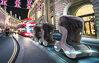 Images from Driverless Futures exhibition, 2017 held at the London Transport Museum