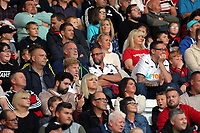 Swansea supporters during the Alan Tate Testimonial Match, Swansea City Legends v Manchester United Legends at the Liberty Stadium, Swansea, Wales, UK
