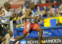Photo: Ady Kerry/Richard Lane Photography.. Aviva European Trials and UK Championships, 14/02/2009..Harry Aikines Aryeetey wins his 60m heat.