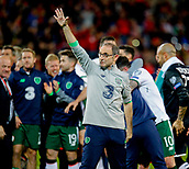 9th October 2017, Cardiff City Stadium, Cardiff, Wales; FIFA World Cup Qualification, Wales versus Republic of Ireland; Republic of Ireland manager Martin O'Neill salutes the traveling Ireland supporters at full time