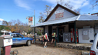 NWA Democrat-Gazette/FLIP PUTTHOFF <br /> A bicycle ride or car trip along Arkansas 215 can include    Oct. 26, 2015   lunch at cafes in Oark, seen here, or Catalpa.